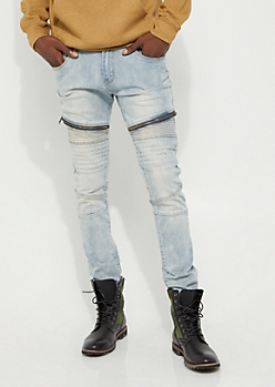 Flex Vintage Pyramid Moto Skinny Jeans