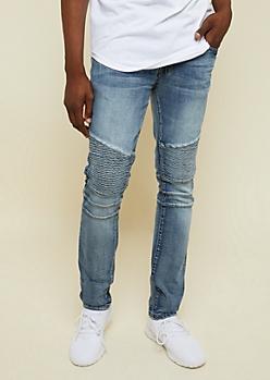 Dark Wash Moto Skinny Jeans