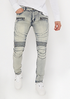 Supreme Flex Medium Tint Zip Moto Skinny Jeans