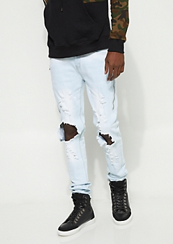 Flex Blown Out Zipped Skinny Jeans