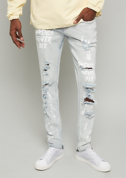 Flex Light Wash Legend Distressed Skinny Jeans