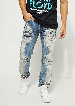Baked Acid Wash Slim Fit Jeans