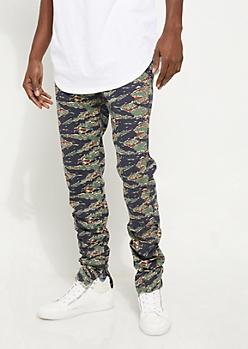 Flex Camo Ruched Leg Joggers