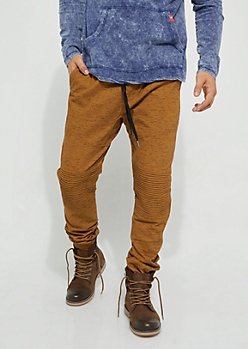 Camel Specked Moto Twill Joggers