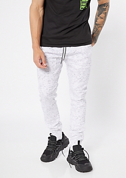 Flex White Space Dye Tech Pocket Joggers