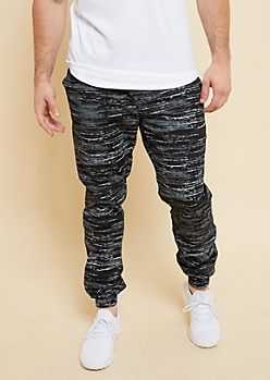 Flex Black Space Dye Lightweight Joggers
