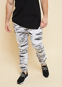 Flex White Space Dye Lightweight Joggers