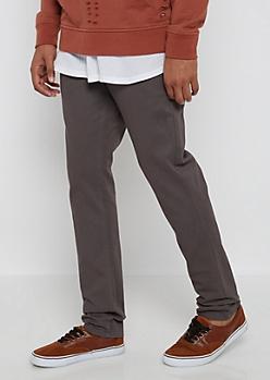 Flex Gray Twill Skinny Pants