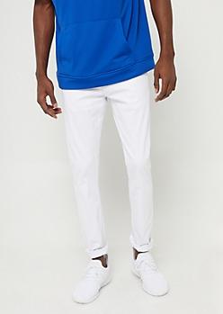 Flex White Skinny Twill Pants