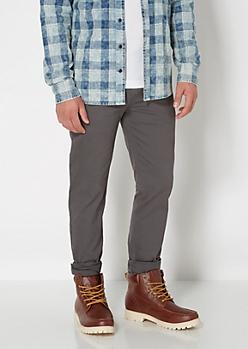 Flex Gray Skinny Twill Pants