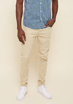 Flex Sand Essential Twill Skinny Pants