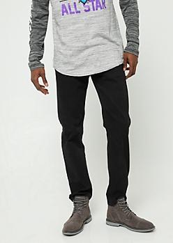 Black Slim Straight Leg Pants