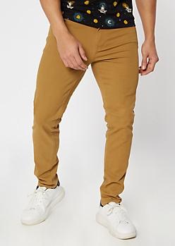 Camel Skinny Twill Pants