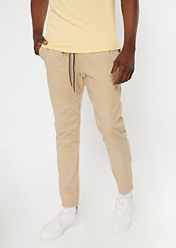 Flex Khaki Tech Twill Joggers