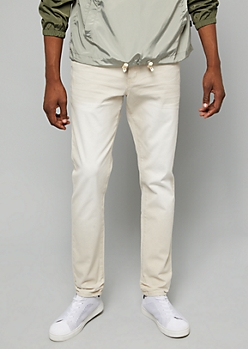 Flex Sand Sandblasted Slim Straight Leg Twill Pants
