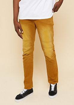 Flex Camel Knee Seam Skinny Jeans