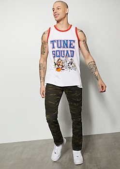 Camo Print Moto Skinny Jeans