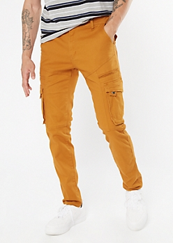 Mustard Cargo Skinny Pants