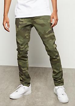Flex Camo Print Skinny Jeans