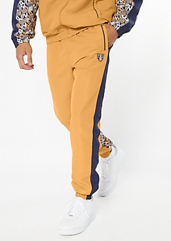 Parish Nation Camel Side Striped Logo Track Pants