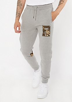 Parish Nation Gray Camo Print Cargo Pocket Joggers