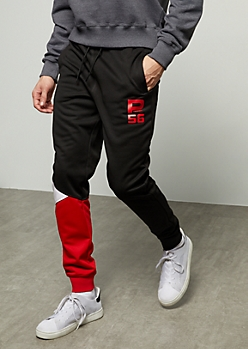 Black Colorblock Parish Nation 56 Active Joggers