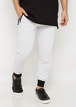 Quilted Moto Knit Joggers