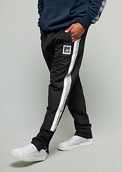 Black Side Striped Slim Track Pants