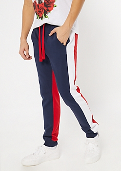 Americana Colorblock Fleece Joggers