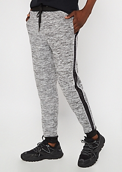Black Space Dye Cozy Joggers