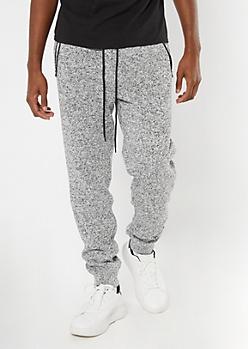 Gray Marled Cozy Knit Joggers