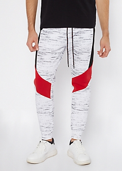 White Space Dye Colorblock Joggers