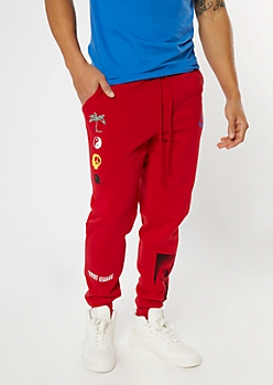 Red Open Your Mind Graphic Joggers