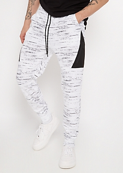 White Space Dye Side Panel Athletic Joggers