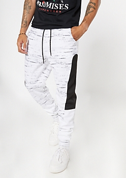 Space Dye Colorblock Joggers