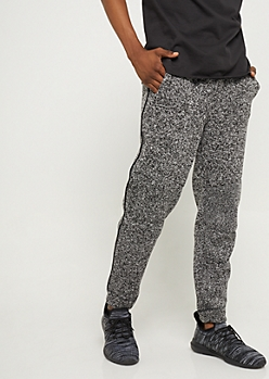 Black Marled Fleece Joggers