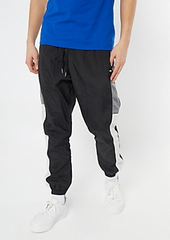 Black Side Striped Track Joggers