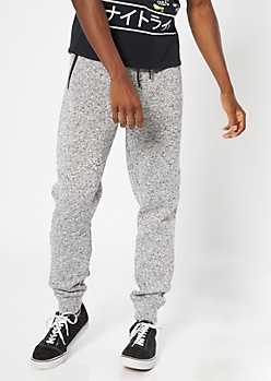 Gray Marled Tech Joggers