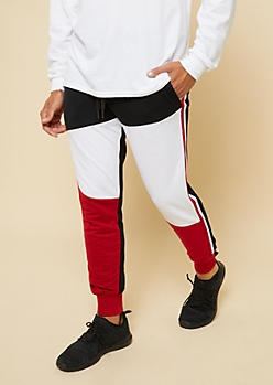 Black Americana Colorblock Active Joggers