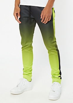 Green Ombre Side Striped Joggers