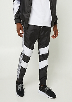 Black Stripe Pattern Rebel Minds Joggers