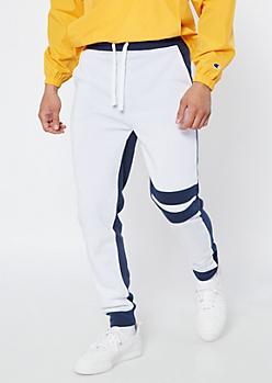 Ultra Flex Navy Duo Varsity Striped Joggers