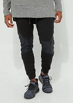 Gray Paneled Knee Cozy Joggers