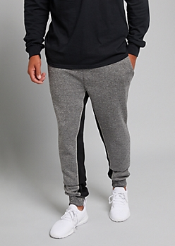 Heather Gray Contrast Inseam Joggers