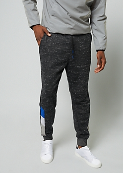 Black Space Dye Colorblock Joggers