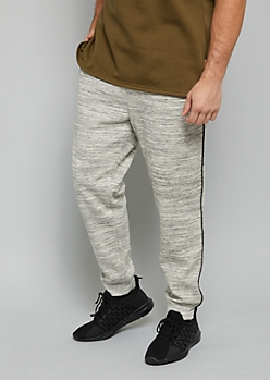 Gray Space Dye Black Trim Joggers
