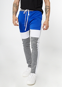 Ultra Flex Blue Colorblock Track Pants
