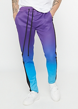 Purple Gradient Track Pants