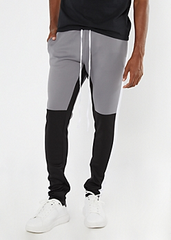 Gray Colorblock Track Pants