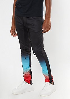 Black Ombre Track Pants
